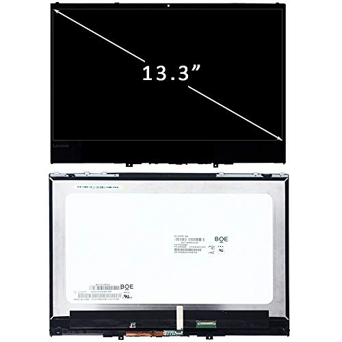 FIRSTLCD Touch LCD Screen Replacement LP133WF4(SP)(B2) Fit for Lenovo Yoga 730-13IWL 81JR 5D10Q89746 Digitizer LED Display Assembly 13.3' w/Bezel(19201080 FHD Version)