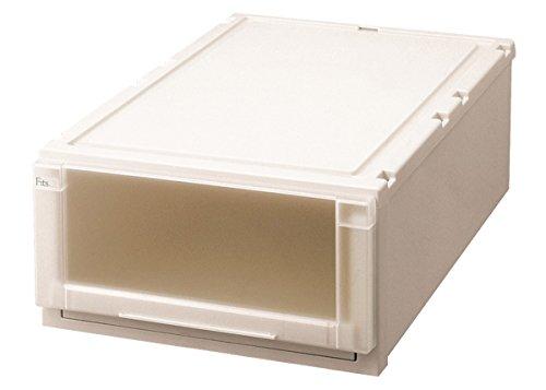 天馬 衣装ケース フィッツユニットケース 押入れ用 カプチーノ 幅44×奥行74×高さ23cm L4423