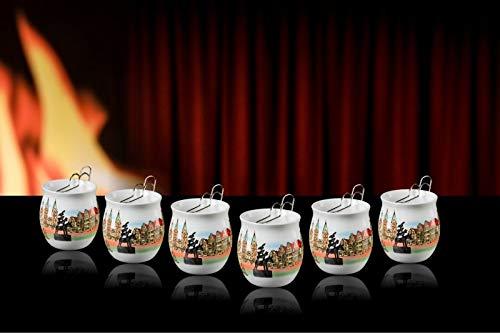 Feuerzangentasse 6er im Karton, Weiß/Bremen - für Feuerzangenbowle