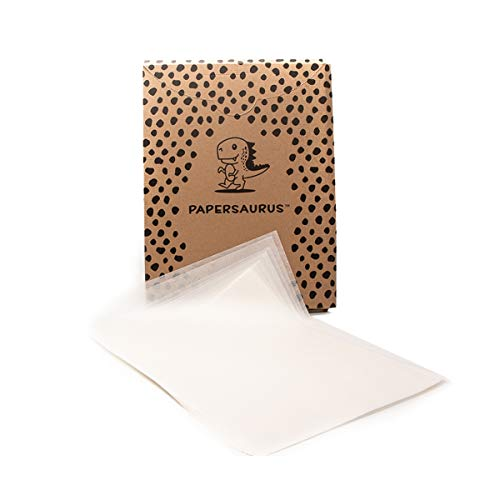 Papersaurus - 12' x 16' White Parchment Paper for Bakers (150 pcs) - Non-Stick Precut Sheets - Food Grade - Oven Safe Sheet Pan Liner - Great for Baking, Air Frying, and Cooking