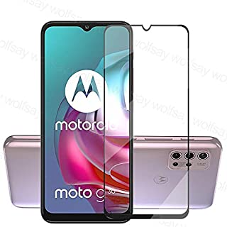 FTRONGRT for Motorola Moto G30 Screen Protector,[9H Hardness,Full Coverage,No bubbles and fingerprint],Scratch-resistant h...