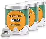 Café Saula, Pack 3 botes con 60 cápsulas compostables. Café 100% Orgánico. Compatibles...