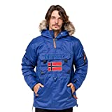 Geographical Norway Corporate, Chaqueta Bomber para Hombre, Azul (Pacific Blue), Large
