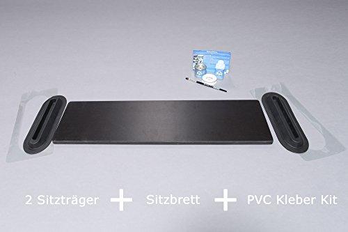 Set: insteekbaar zitbord (95 x 20 cm) + 2 x stoeldragers + lijm kit, rubberboot