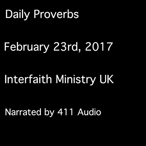 Daily Proverbs, February 23, 2017 audiobook cover art