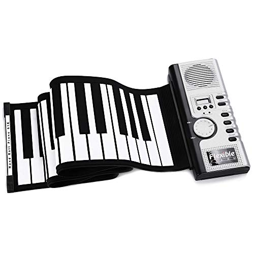 Jurenay Piano Nuevo Portátil Flexible 61 Teclas de Silicona Midi...