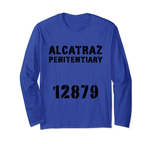 Alcatraz Sträfling Knast Häftling Gefängnis Kostüm Orange Langarmshirt