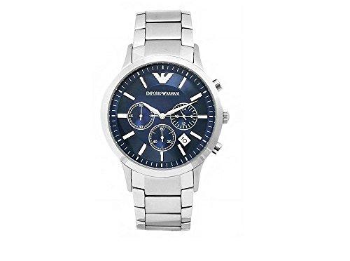 Emporio Armani AR2448 Heren Horloge – Zilver Staal Chronograaf