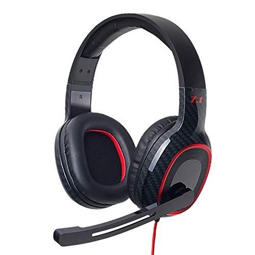 QNSQ Stereo gaming headset, Custom 50 mm neodymium-luidspreker, koolstofvezel-design, analoog 7.1-kanaals 3D-surround-sound