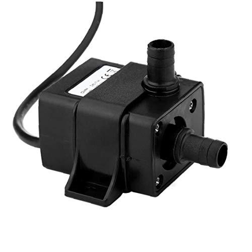Aardich Bomba 12V CC Ultra silencioso elctrico sin escobillas Mini Micro Sumergible Bomba de Agua de la Fuente 240L / H 4.8W para Acuario de la charca de hidropona