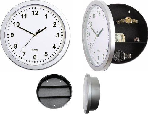 Reloj de pared con compartimento secreto