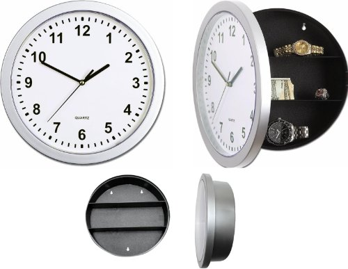 Reloj de pared con compartimento secreto