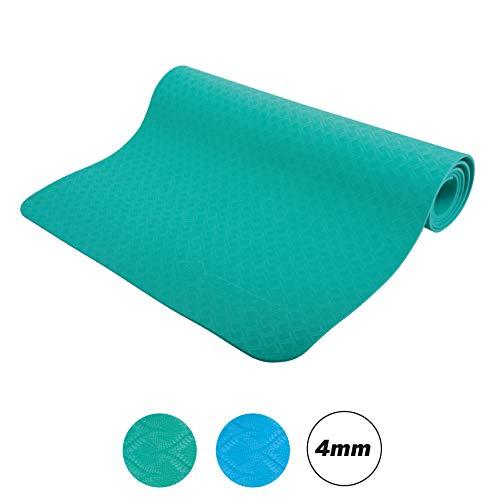 Schildkröt Fitness Yogamatte 4 mm, Grün, in Tragetasche, 960168