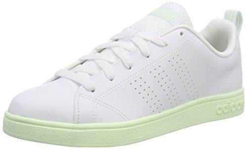 adidas Vs Advantage Clean, Zapatillas de Tenis para Mujer, Blanco (Ftwwht/Ftwwht/Aergrn 000), 36 EU