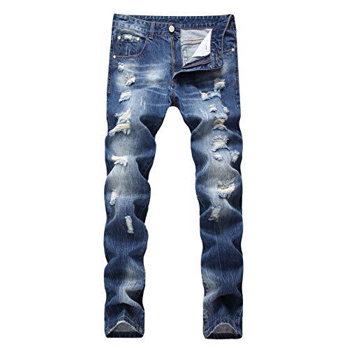 CFWL Pantalones Vaqueros Rasgados para Hombre, Pantalones De Tendencia De Moda para...