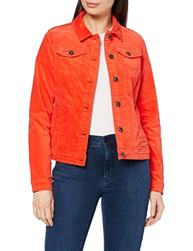 Cecil Damen 211252 Velvet Jeansjacke, Funky orange, S