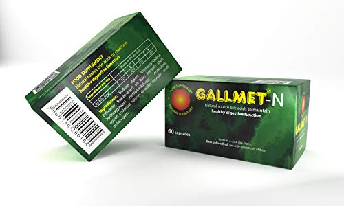 GALLMET-N/60 Bile acids Capsules (125 mg/Capsule) to Maintain Healthy Digestive Function