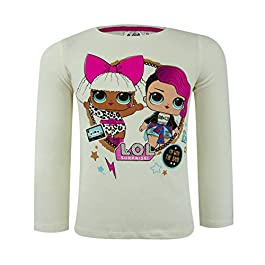 Samoja Kids – Tee Shirt Manches Longues LOL Surprise – T Shirt Fille Pur Coton – Licence Officielle