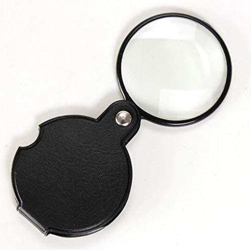 HD Ayudas para la visión- 10X HD Portátil MagnifiersMini para Libro de Hombre Viejo Lectura De Lectura Relojes de identificación de Joyería DIY Crafts Talla Lupa de Bolsillo Plegable