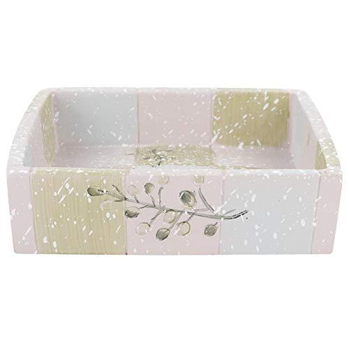 Alvinlite Soporte para Plato de jabón de Resina Bandeja para Plato de jabón con Orificio de Drenaje para baño, Cocina, Ducha, bañera, fregaderos