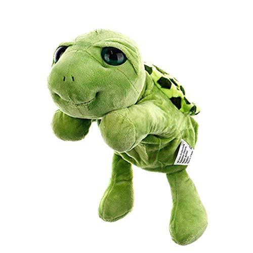 Nicedier Tortuga marioneta de Mano de Relleno Tortuga Tortuga de Dibujos Animados de Marionetas de Peluche Juguetes interactivos de Marionetas Mitones Interactivo marioneta de Mano Verde 30Cm