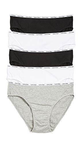 Calvin Klein Underwear Women's 5 Pack Bikini Briefs, Black/White/Grey Heather, Medium