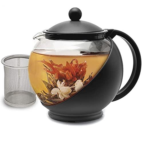 Kaidanwang Multifunción Teteras Tai Chi Pot, colador de Acero Inoxidable, Juego de té de Cristal Resistente a Alta Temperatura, Tetera (Size : 750Ml Teapot(1pcs))
