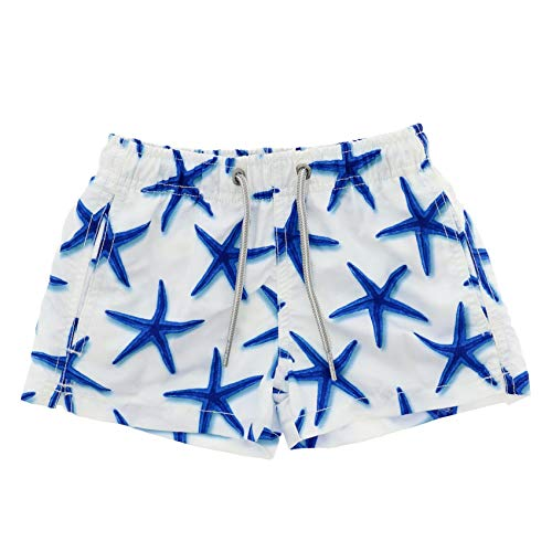Scotch Painter's Tape Mc2 Saint Barth Boys Jeanqueenstarfish01 White Polyester Trunks