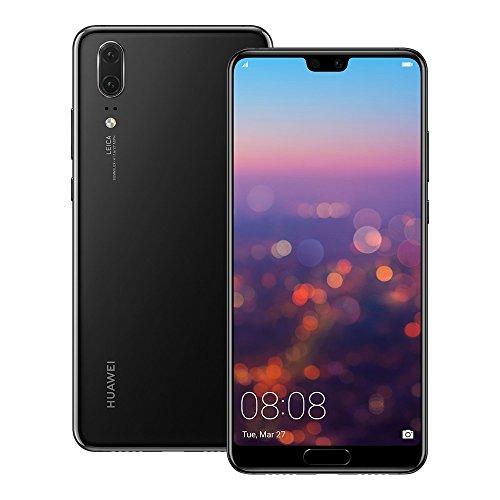 """HUAWEI P20 EML-L29 128GB 4GB di RAM, Dual SIM LTE, 5.8"""", Full HD + Display della Fotocamera -Dual 20 MP 12 MP, gsm Sbloccato Modello Internazionale, No (Nero)"""