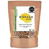 Granola Premium BGraan 1 Kg, Granola Artesanal Con Chips Crujientes de Manzana Natural, Chips de Coco Tostado Natural, Baja en Azúcar, Almendras Fileteadas, Arándanos y miel de abeja 100% pura