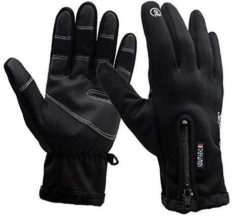 Weelth Winterhandschuhe -40℃ Touchscreen Outdoor Handschuhe Warm, Wasserdicht, Winddicht & rutschfest (Black, L)
