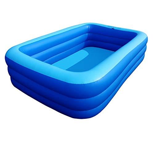 PNYGJR Bomba eléctrica aireada del hogar Piscina Inflable Baño Cuadrado Barril Bañera for Adultos Espesamiento Piscina Familiar Alta Bañera for niños pequeños Azul (Color : 2m)