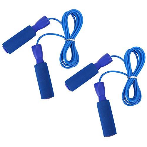 HERCHR 2Pcs Speed Jump Rope F¨¹R Fitness¨¹Bungen, 9,8 Fu? Verstellbare Springseile Erwachsene Sch¨¹Ler(Blau)