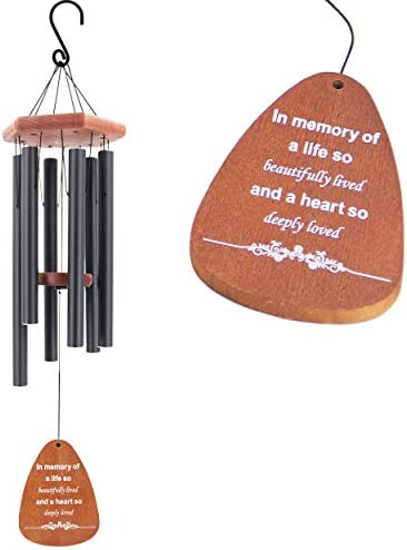 Memorial Wind Chimes Outdoor Deep Tone 30 Inch Memorial Wind Chimes with Words in Memory of product image