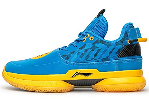 LI-NING Wow 7 Wade University Camo Men Profession Basketball Shoes Classic Sports Male Sneakers Blue ABAN079-35 US 7.5
