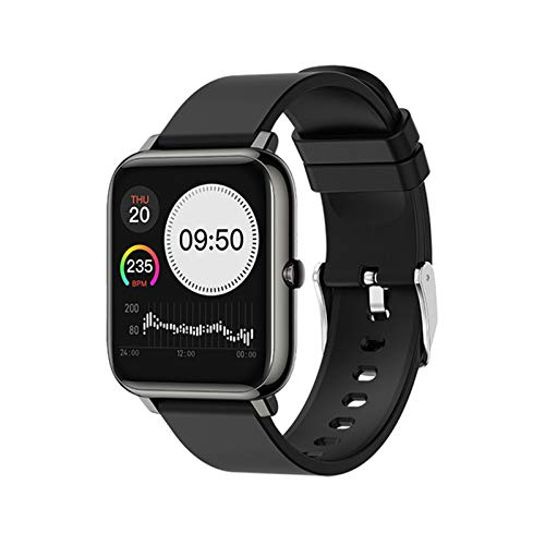 L.B.S P22 Smart Watch Rastro del Corazón Tracker Call/Message Recordatorio Bluetooth Compatible Waterproof Fitness Sports Watch para Android iOS,A