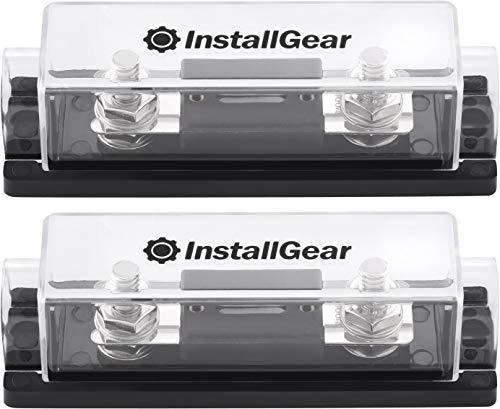 InstallGear 0/2/4 Gauge Ga ANL Fuse Holder + 100 Amp ANL Fuses (2 Pack)