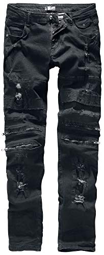 Rock Rebel by EMP Jared Homme Jean Noir W36L34, 98% Coton, 2% Élasthanne, Slim Fit