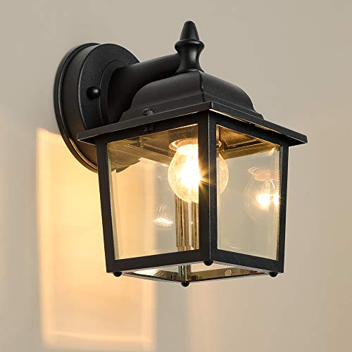 LPINYE Porch Light Exterior Wall Light Simple Modern Wall Lantern Waterproof Aluminum Wall Mount Light for Entryway, Doorway, Corridor, Balcony, Patio and Porch(UL Listed)