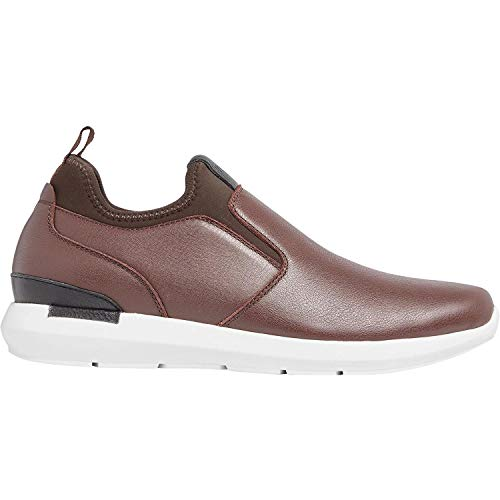 Vionic Men's Bond Curtis Slip-on Sneaker with Concealed Orthotic Arch Support Brown 8.5 M US