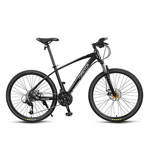 JKCKHA Bicicleta De Montaña para Jóvenes/Adultos, Cuadro De Aleación De Aluminio, 27 Velocidades, Ruedas De 26 Pulgadas, para Una Variedad De Ocasiones, Negro