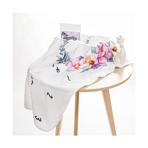 SNOWIE SOFT® Flannel Printed Monthly, 70 X 100cm Soft Blanket,for 0-12 Month Baby 4 41UKhcsRsBL