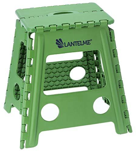 Lantelme Klapphocker faltbar Kunststoff Hocker Farbe grün Sitzhocker Angelhocker Sitzhöhe 40cm tragbar Outdoor 4794