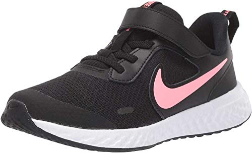 Nike Unisex-Kinder Revolution 5 (PSV) Sneaker, Schwarz (Black/Sunset Pulse 002), 33 EU