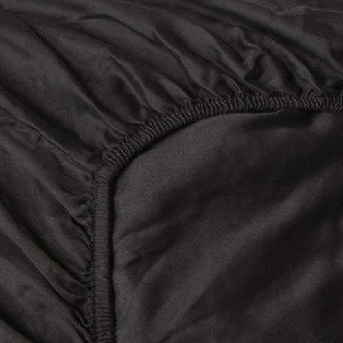 Heckett & Lane katoenen percale hoeslaken voor Split Topper I grootte 200x200 cm hoogte 12 cm I kleur lichtblauw