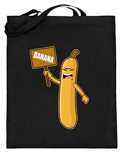 Banana - Placa de protección con diseño de plátano (con asas largas), color Negro, talla 38cm-42cm
