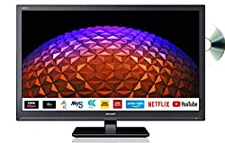This Sharp 24 Inch LED TV can be connected to an array of devices using the 2 x HDMI, SCART, 2 x USB, Component, Composite and Digital Optical Audio ports With the smart capability of Sharp, you can access a range of apps, such as Netflix and YouTube...