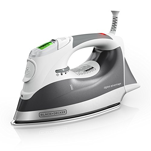 BLACK+DECKER Digital Advantage Professional Steam Iron, LCD Screen, Gray, D2030