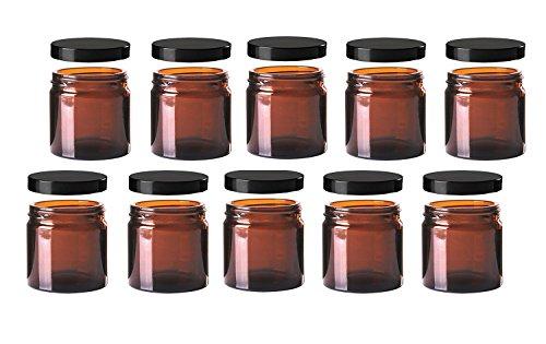 6 leer Glastiegel Braun 30 ml Tiegel Cremedose Glas Kosmetikdose Cremetiegel