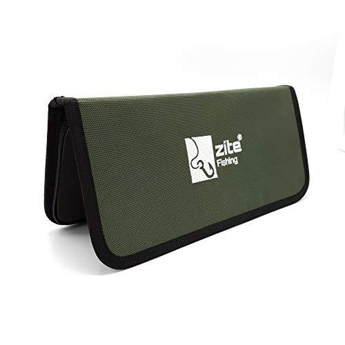 Zite Fishing Stiff-Rig Tasche - Vorfach Brieftasche mit 20 Pins - Wallet-Case für Angel-Vorfächer wie Karpfen-Rigs